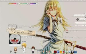 Desktop: Working theme and icons by milkkybunny
