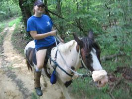 7 miles in the trail by maleficmistress