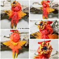 phoenix fire fairy necklace Commission by oOMetalbrideOo