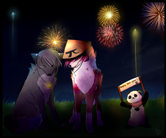 .: Happy New Year 2014 :. Thank you all by YumiTheWolf