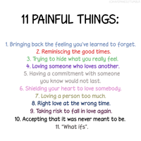 11 Painful Things. by kogalover97