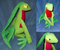 Grovyle Plush by Shadowless-Dreamer