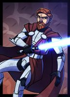 Commish - Kenobi by JoeHoganArt