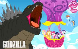 MLP MEET GODZILLA by mayozilla