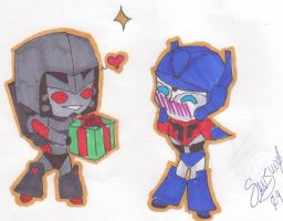 TFA Megatron and Optimus by Sanjuno