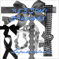 Ribbons Brushes by LaPikkolaCla