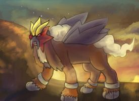 Entei Request by Srarlight