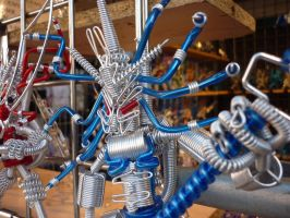 Wire Battle Robot Closeup! by ggeudraco