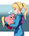 Samus And Kirby by lazy-Time