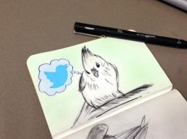 Sketchbook - Blue Bird by justcallmemike