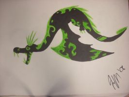 Tribal Dragon :FlashArt?: by HaileyHerrarsaurus