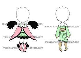 Outfit Adopt Sheet (CLOSED) by musicxartareone