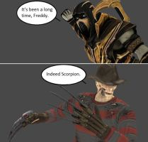 Injustice: Scorpion vs Freddy Krueger by xXTrettaXx