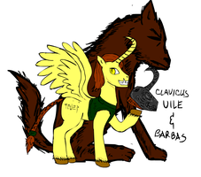 Clavicus Vile and Barbas by glue123