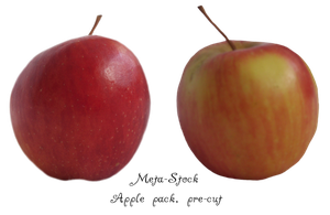 Apples, pre cut stock by Meta-Stock