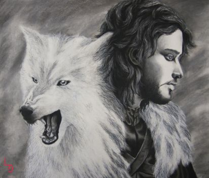 Five Direwolves and a Ghost- Game of Thrones by klenae