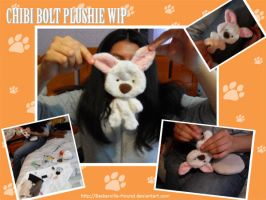 Chibi Bolt pup Plushie WIP by Baskerville-Hound