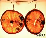 Clockwork Orange Earrings by faktoria-f
