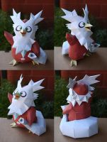 Delibird pokemon papercraft by Mee-Lin