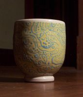 underglaze cup by lizzybeth
