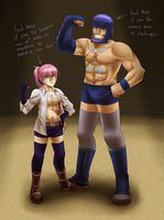 SoC: Wrestling tiem 8'D by dragoonwys