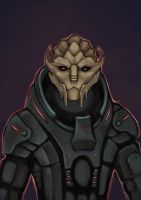 Turian sketch by Someone5678