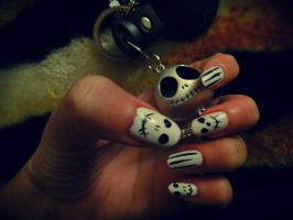 nails skelleton 2 by lioness14