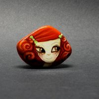 Ginger Girl Doll Brooch by 1anina