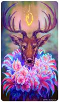 Tarot : KING OF WANDS by leptailurus-serval
