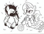 Spark Storm and Trixie Lulumoon inked by ArtPonyMDP