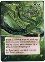 Magic Card Alteration: Mystic Snake by Ondal-the-Fool