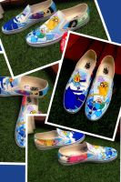 Adventure Time Vans Full Shoe by VeryBadThing