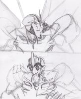 Starscream and The Hatchling by ConstantScribbles