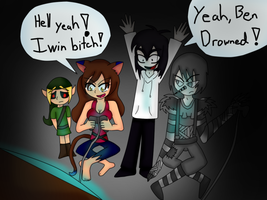 Ben, Jeff, LJ and catgirl846 by catgirl846