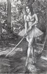 Tip toe through the Woods pencil drawing by KurtBrugel