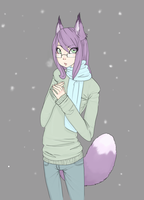 In the snow by NoyiiArts