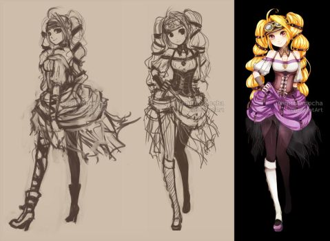 48hrs AUCTION Adopt: Steampunk twintails [CLOSED!] by ZenithOmocha