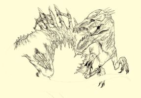 Zombie Spinosaur!!! (Unfinished) by warmll