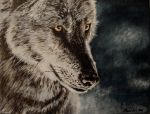 Wolf painting by May84