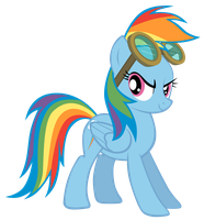 Rainbow Dash With Goggles by GoblinEngineer