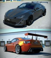 Toyota GT86 WIP 17 'Rocket Bunny' by The-IC