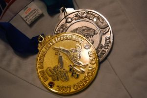 Closeup of Medals by MaryAnnBubna