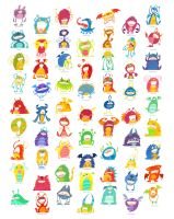 Monster Poster (with names) by See-past-the-madness