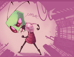 Zim Goes Grawr by NuclearMango