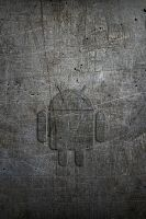 Android Logo on Rusty Metal - WP1 by drouell
