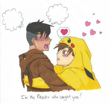 I'm the Pikachu who caught you ! by Pon-Monster