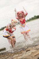 Sailor Moon and Chibimoon Cosplay by Mondkaeppchen