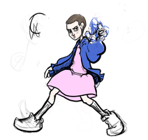 Eleven WIP (Stranger Things) by Short-Change-Hero