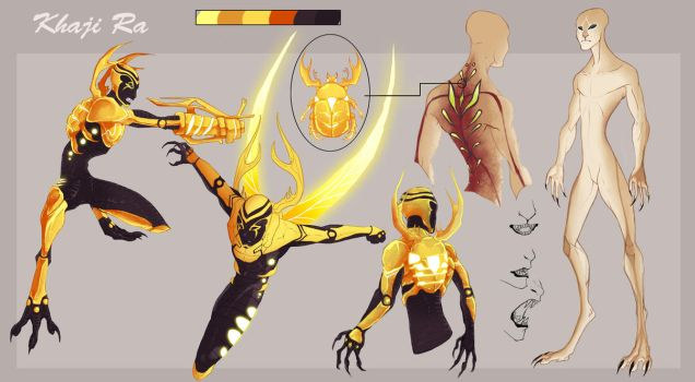 Golden Alien Scarab profile sheet by Tytoz