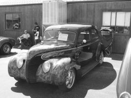 1939 Ford Sedan B and W by borgking001a